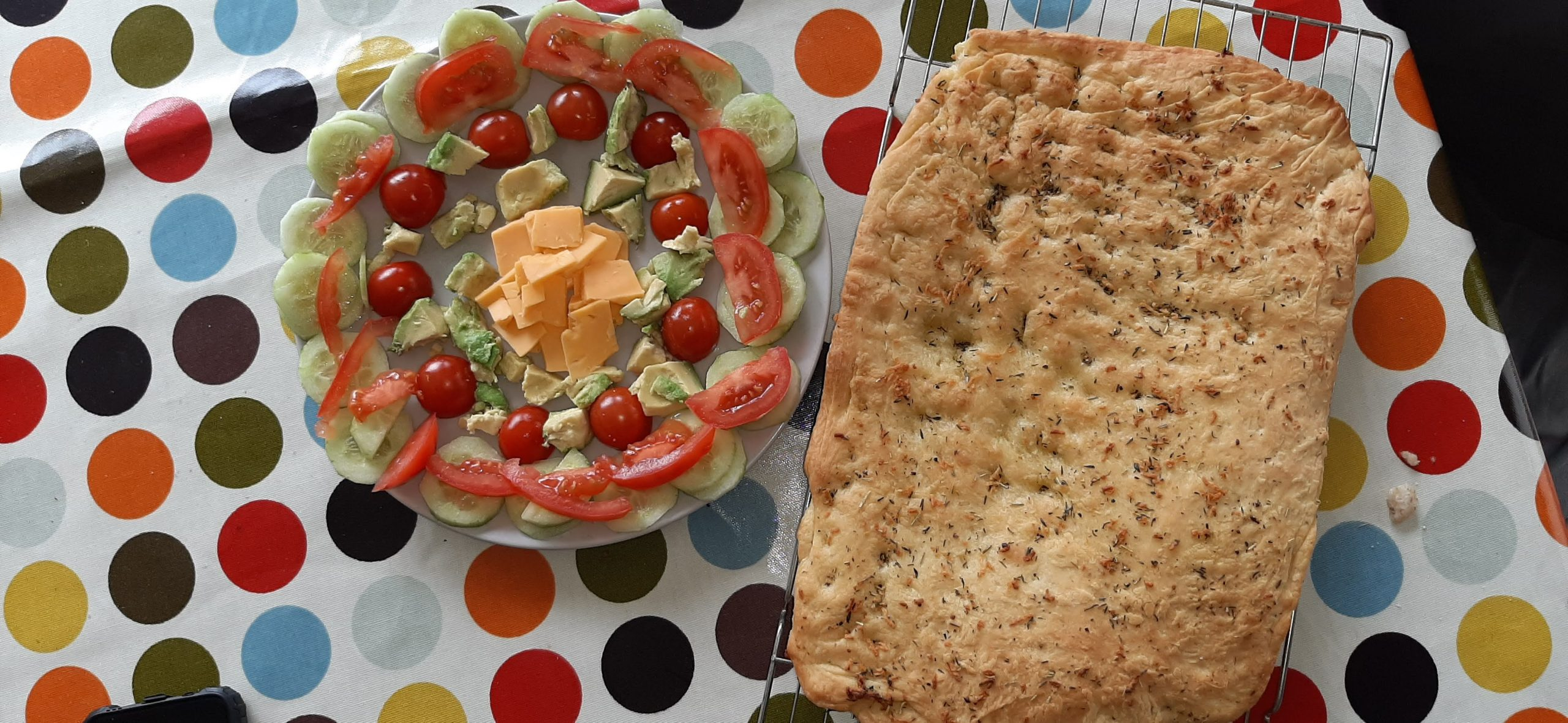 Garlic, Rosemary and Thyme Foccacia Bread Recipe